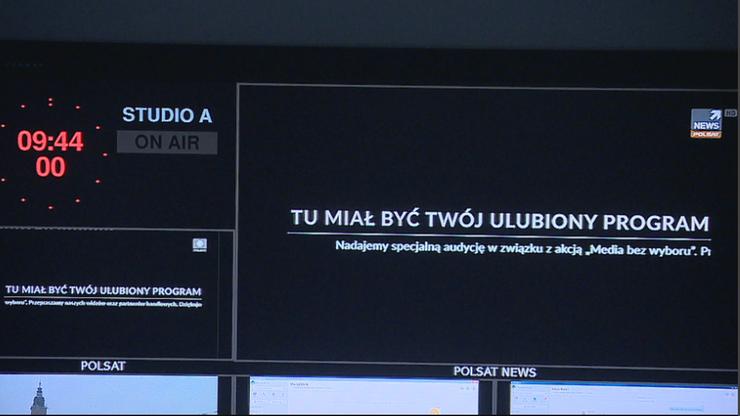 """""""Media bez wyboru"""". Akcja, która pozbawiła Polaków dostępu do wiadomości"""
