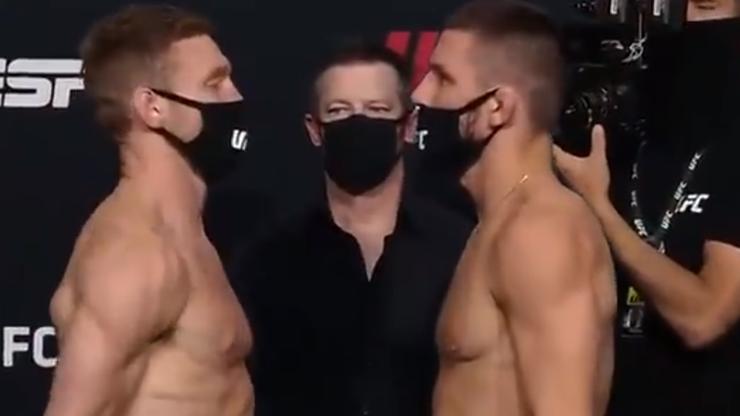 UFC: Mateusz Gamrot - Scott Holtzman. Pierwsze spotkanie twarzą w twarz (WIDEO)