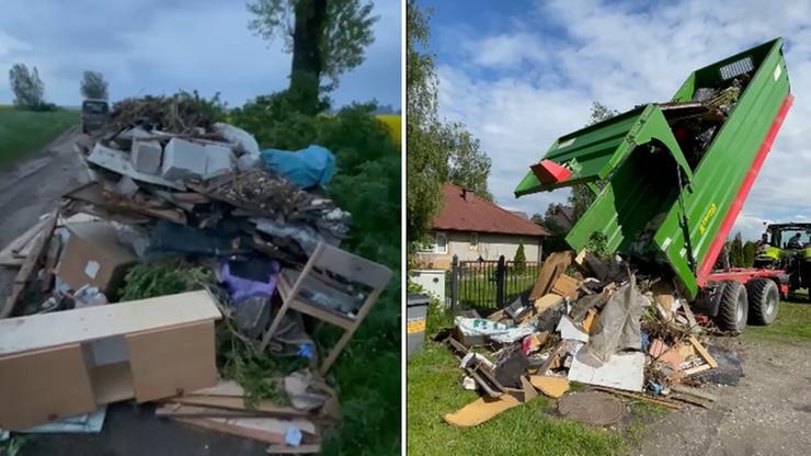 """Znalazł śmieci na swoim polu i """"oddał"""" je właścicielowi. """"Karma wraca"""""""
