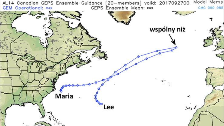 Huragany Maria i Lee łączą się i zmierzają w stronę Europy. W Polsce deszcze, w Irlandii i Anglii sztormy