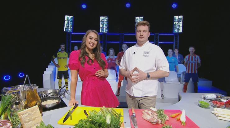 Kuchnia Mistrzów: Szparagi z sosem holenderskim i bekonem kontra navarin