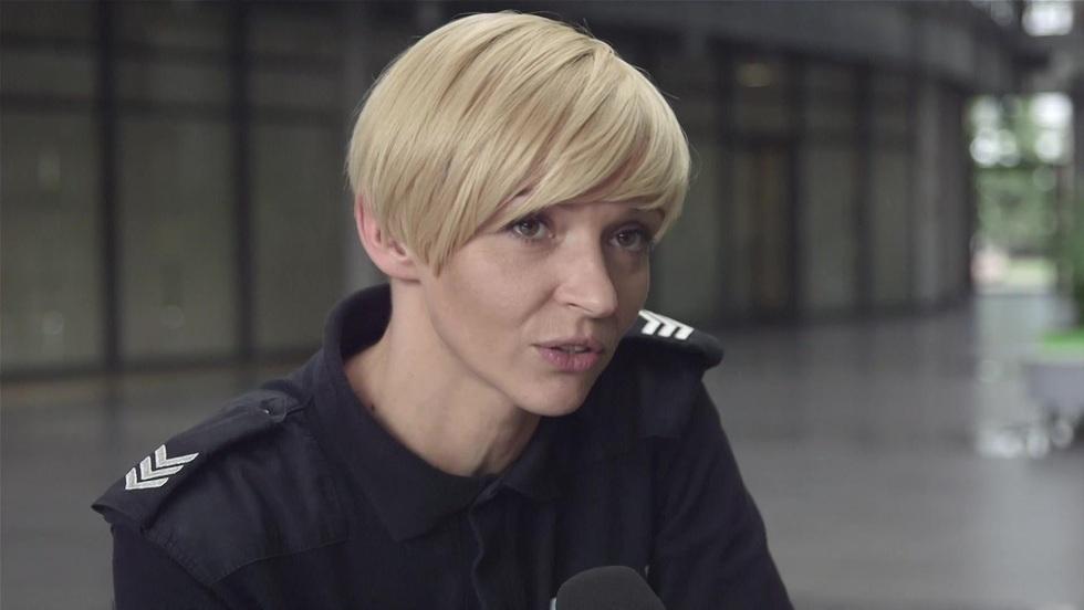 """Na planie """"Policjantek i policjantów"""" - Małgorzata Szapował i Wojciech Sukiennik"""